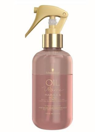 Спрей для волос schwarzkopf professional oil ultime marula & rose light oil-in spray conditioner