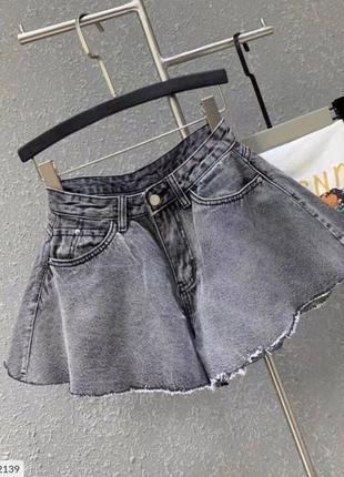 Шорты джинс, трендовые шорты иметация юбки
