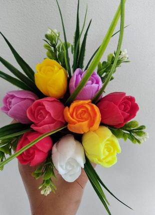 Квіти із мильної основи