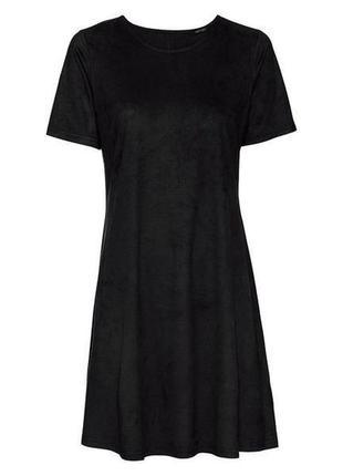 Платье под замш s 36 38 euro esmara германия черное
