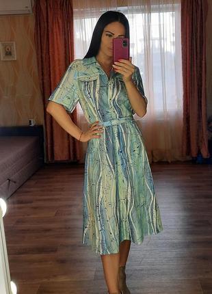 Платье миди, платье рубашка размер 38