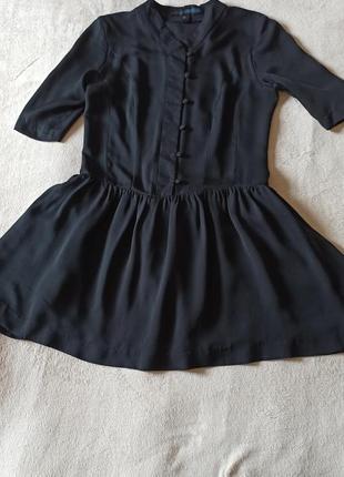 Натуральное шелковое платье туника от mango