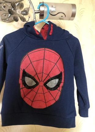 Худи spider man для мальчика 4-5 лет