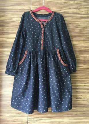Красивое платье с длинным рукавом kaisely 5-6 лет