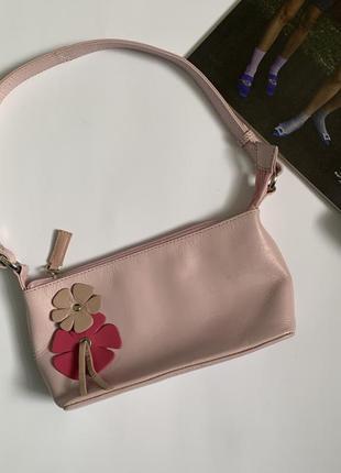 Шкіряна сумочка багет у стилі 90-х!