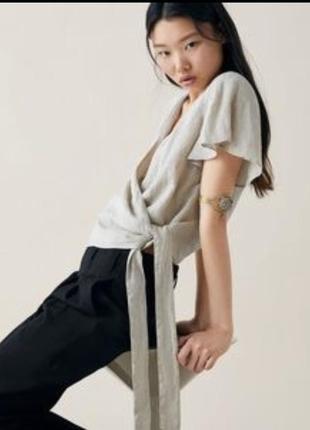 Льняная туника блузка зара