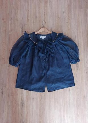 Шелковая блуза с бантом balenciaga 100% шелк