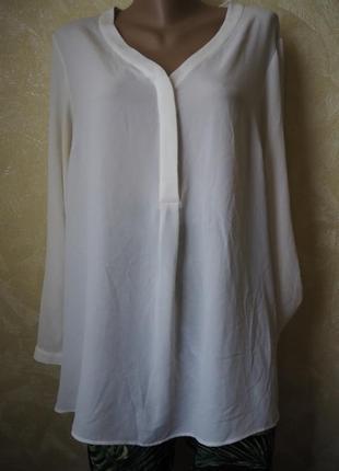Легкая летняя блуза молоко
