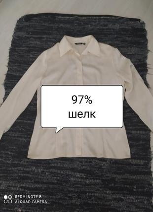 Шелковая блуза-рубашка