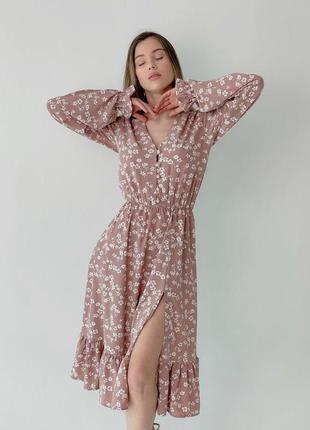 Розпродаж!!! сукня міді з розрізом