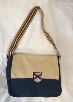 Tommy hilfiger новая стильная хлопковая сумка