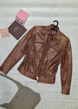 Кожаный пиджак жакет куртка