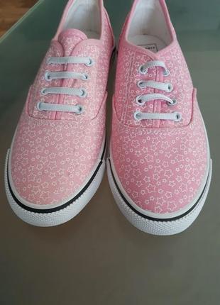 Розовые кеды на девочку