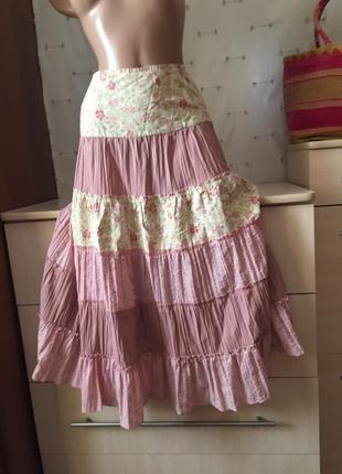 Красивая клешная юбка миди