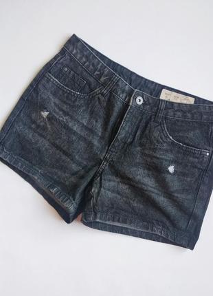 Шорты esmara джинсовые короткие с потертостями, молодежная одежда