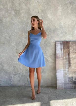 Женское платье, короткое платье, голубое платье, розовое платье