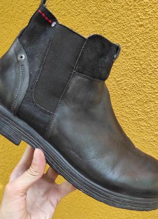 44 разм. ботинки replay. кожа