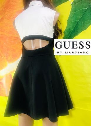Guess by marciano платье трапеция, с приоткрытой спинкой и воротником стойкой