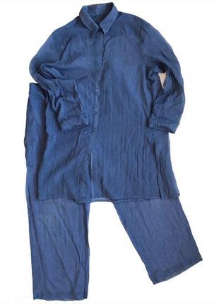 Легкий костюм bandolera из жатой ткани с удлиненной рубашкой