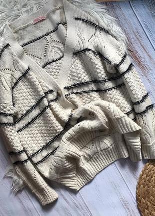 Трендовый шерстяной кардиган на пуговицах, свитер, джемпер,кофта от krips