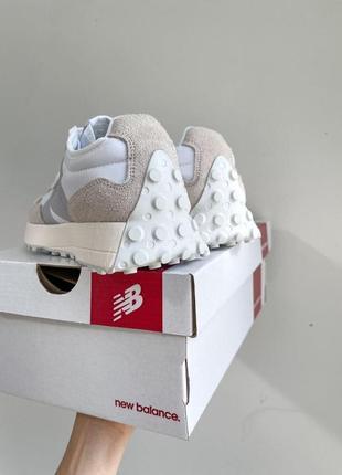New balance 327🆕женские замшевые шикарные кроссовки нью баланс🆕бежевые с белым3 фото
