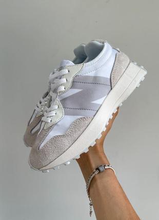 New balance 327🆕женские замшевые шикарные кроссовки нью баланс🆕бежевые с белым4 фото