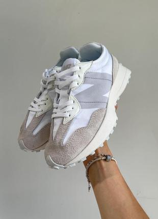 New balance 327🆕женские замшевые шикарные кроссовки нью баланс🆕бежевые с белым2 фото