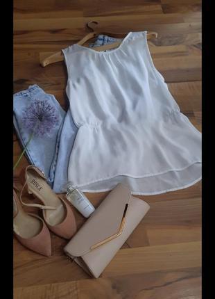 Белая майка блуза h&m
