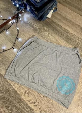 Сіра юбка спортивна міні
