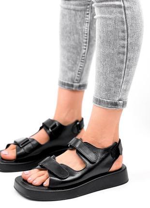Босоножки натуральная кожа сандали на липучках