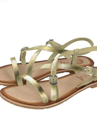 Новые босоножки gioseppo испания кожа сандалии золотые