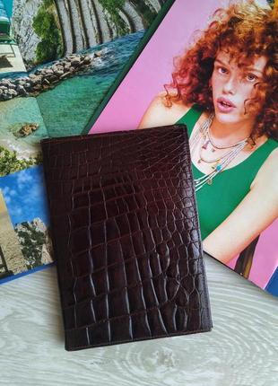 Кожаный кошелек портмоне под крокодила