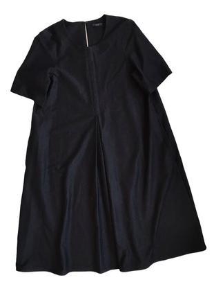 Черное платье макси cos