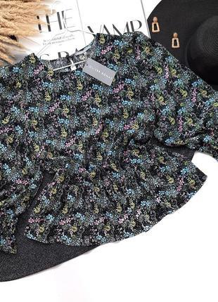 Дизайнерская люкс блузка в цветочный принт oliver bonas