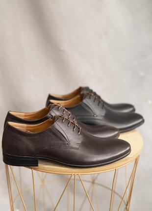 Натуральная кожа! классические мужские туфли3 фото