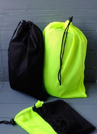 Эко мешок из трикотажной сетки, эко торбочка, мешок для продуктов,хранения вещей