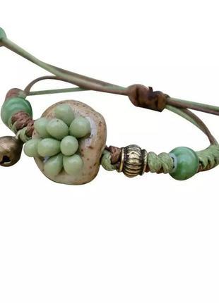 Оригинальный браслет из керамики суккулент