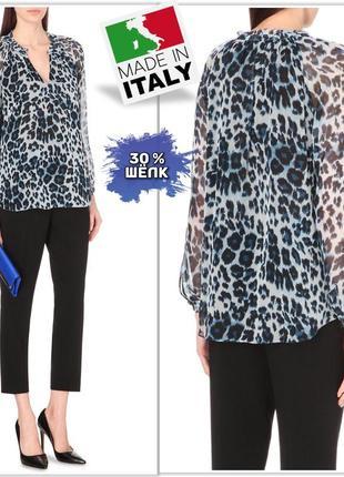Viola borghi (италия) шёлковая блуза в анималистичный принт