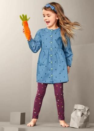 Красивое детское хлопковое джинсовое платье, туника от tcm tchibo (чибо), германия, размер 74-98 см