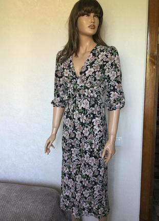 Платье миди в цветы primark размер 6/8