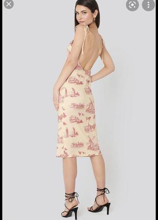 Платье сарафан  na-kd на бренд na-kd действует акция 1+1=3