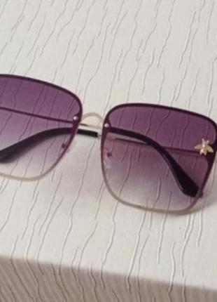 Роскошные стильные крупные квадратные солнцезащитные очки, очки с пчелками