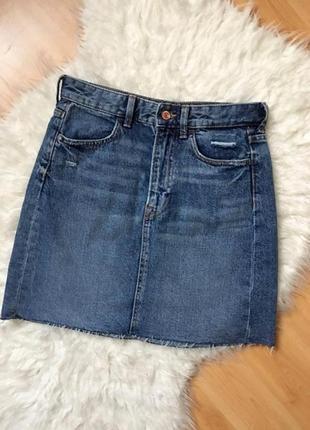Юбка джинсовая на высокой посадке