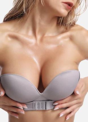 Push-up эффект😍 лиф с застежкой спереди, хорошо поднимает грудь и делает ее форму пышнее , высокое качество 😻 🍬беж, серый и черный  🍬чашка а/b (70-75)