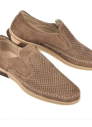 Мокасины, туфли мужские, светло-коричневые