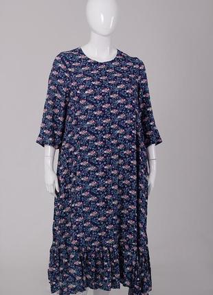 Платье летнее длинное силуэта трапеция