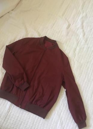 Куртка винного цвета