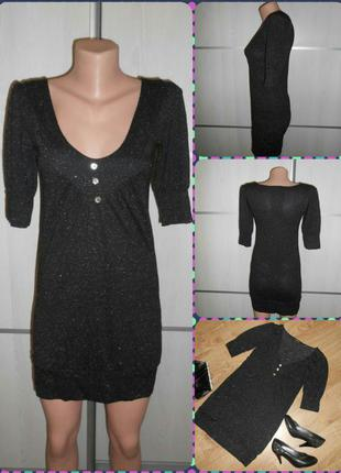 Платье-мини блестящее нарядное от sisters point, xs/s