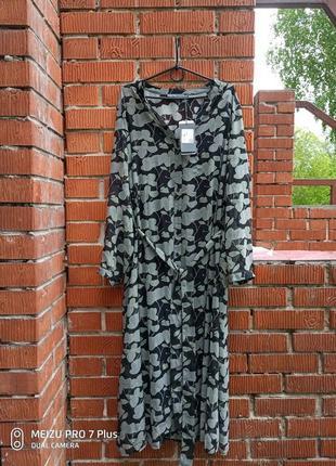 Шифоновое платье халат 2 в 1 большой размер gina laura