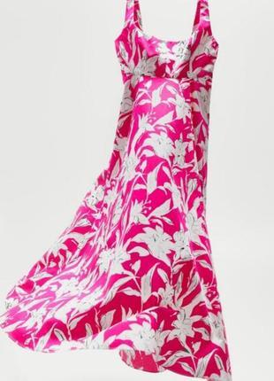 Zara платье сарафан из натуральной ткани  h&m asos manro f&f atmosphere amisu new look manro